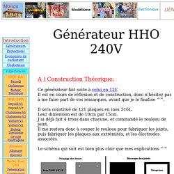 Générateur HHO 240V