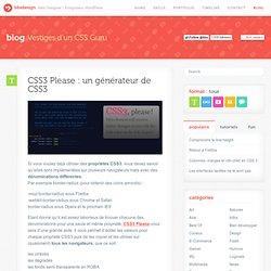 CSS3 Please : un générateur de CSS3