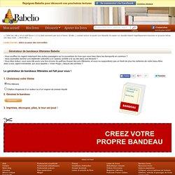 Générateur de bandeaux littéraires – Babelio.com EDITION