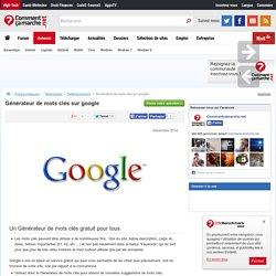 Générateur de mots clés sur google
