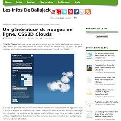 Un générateur de nuages en ligne, CSS3D Clouds