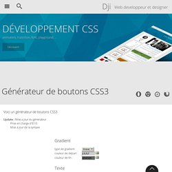 Generateur de boutons CSS3 - Design et programmation web2 - Dji