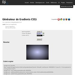 Generateur de gradient CSS3 - Design et programmation web2 - Dji