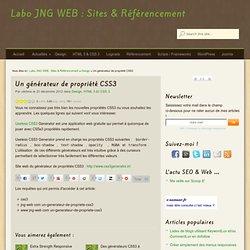 Un générateur de propriété CSS3