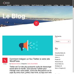 Comment intégrer un flux Twitter à votre site WordPress