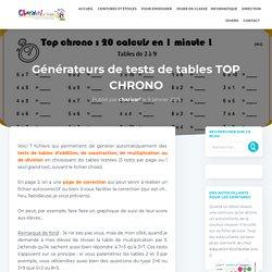 (Re)découvertes de l'été - 8 - Générateurs de tests de tables - Charivari à l'école