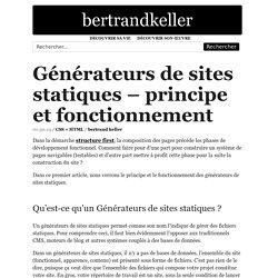Générateurs de sites statiques – principe et fonctionnement