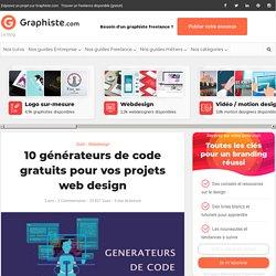 10 générateurs de code gratuits pour vos projets web design