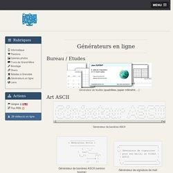 Générateurs en ligne