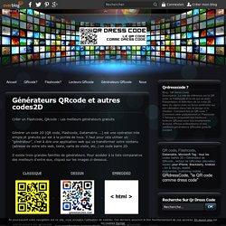 Générateurs QRcode et autres codes2D