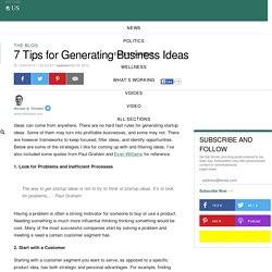 7 Tips for Generating Business Ideas