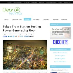 Tokyo Train Station Testing Power-Generating Floor