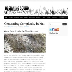 Generating Complexity in Max