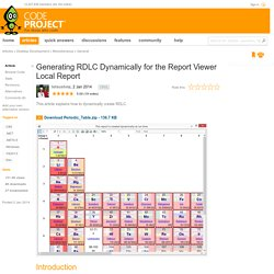 Generating RDLC Dynamically for the Report Viewer Local Report