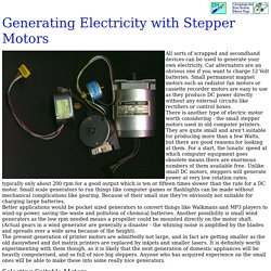 Generating Electricity With Stepper Motors