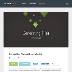 Generating Files with JavaScript