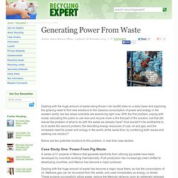 Generating Power From Waste - Recycling Expert