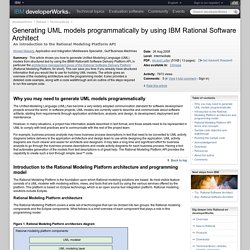 Generating UML models programmatically by using IBM Rational Software Architect
