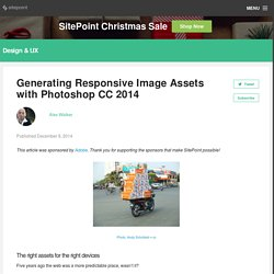 Generating Responsive Image Assets with Photoshop CC 2014