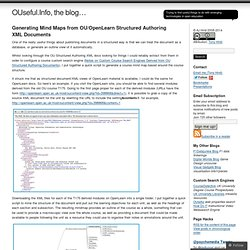 Generating Mind Maps from OU/OpenLearn Structured Authoring XML Documents