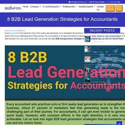 8 B2B Lead Generation Strategies for Accountants