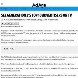 Generation Z's Top 10 Memorable TV Advertisers