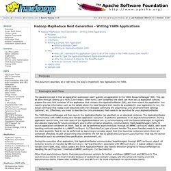 Apache Hadoop 2.6.0 - Hadoop Map Reduce Next Generation-2.6.0 - Writing YARN Applications