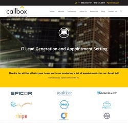 IT Products and Services Lead Generation Appointment Setting