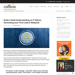 Lead Generation Archives - B2B Lead Generation Company Malaysia