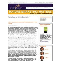 Silent Generation « Mature Marketing Matters