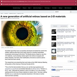 A new generation of artificial retinas based on 2-D materials