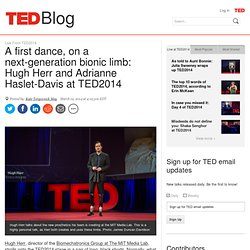 A first dance, on a next-generation bionic leg: Hugh Herr at TED2014