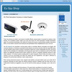 Eu Spy Shop: 3G (Third Generation) Cameras in United Kingdom