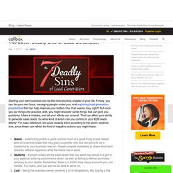 The Seven Deadly Sins Of Lead Generation - B2B Lead Generation Company Malaysia