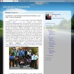 Le projet de « Les Classiques des Sciences Sociales » pour Haïti : un feu à charbonner