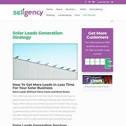Solar Leads Generation Strategy