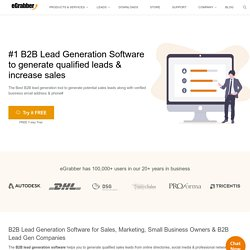 Tool to Generate Qualified Sales Leads & Increase Sales Conversions