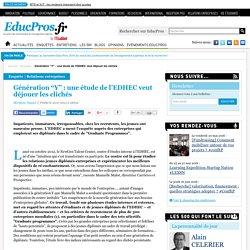 """Génération """"Y"""" : une étude de l'EDHEC veut déjouer les clichés"""