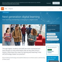 Next generation digital learning