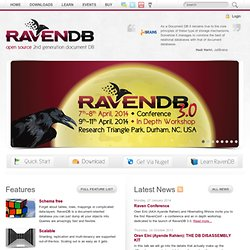 RavenDB - 2nd generation document database
