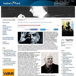La nouvelle génération des écrivains portugais
