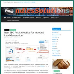 Best SEO Audit Website For Inbound Lead Generation