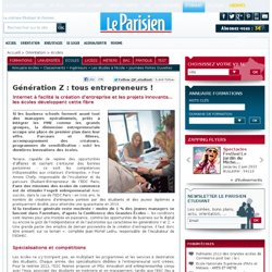 Génération Z : tous entrepreneurs ! - écoles