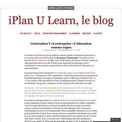 Génération Y : L'éducation comme enjeu