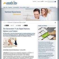 Die Generation Y als Digital Natives: Mythen und Fakten : Institut für Software-Ergonomie und Usability