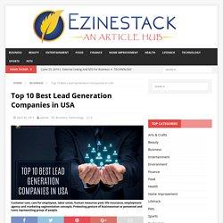 Top 10 Best Lead Generation Companies in USA - Ezinestack.com