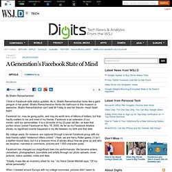 A Generation's Facebook State of Mind - Digits