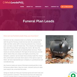 Funeral Plan Leads for Prepaid Funeral Plans