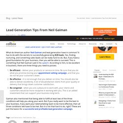 Lead Generation Tips From Neil Gaiman - B2B Lead Generation Australia