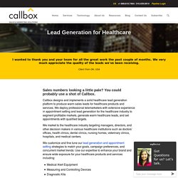 Lead Generation for Medical and Healthcare Product and Services